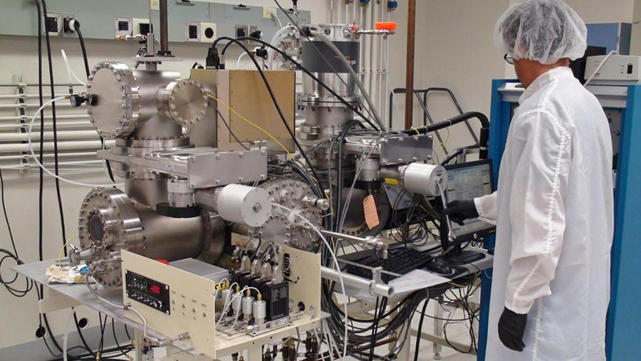 Materials Synthesis and Characterization Facility Lab worker