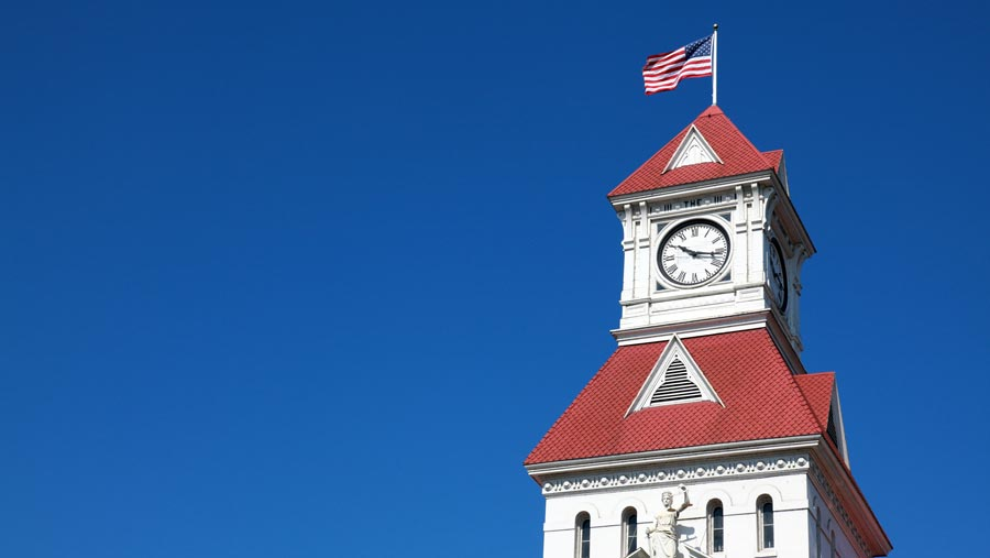 Corvallis Courthouse tower
