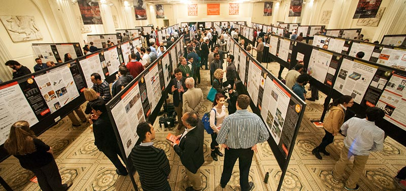 graduate research expo floor