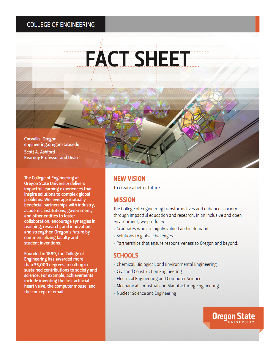 fact sheet college of engineering oregon state university