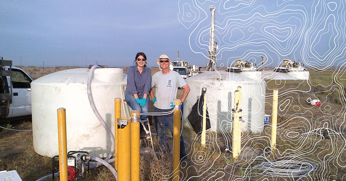 Oregon State alumnus Mandy Michalsen and Jack Istok, professor of water resources, partner to clean contaminated groundwater in Eastern Oregon.