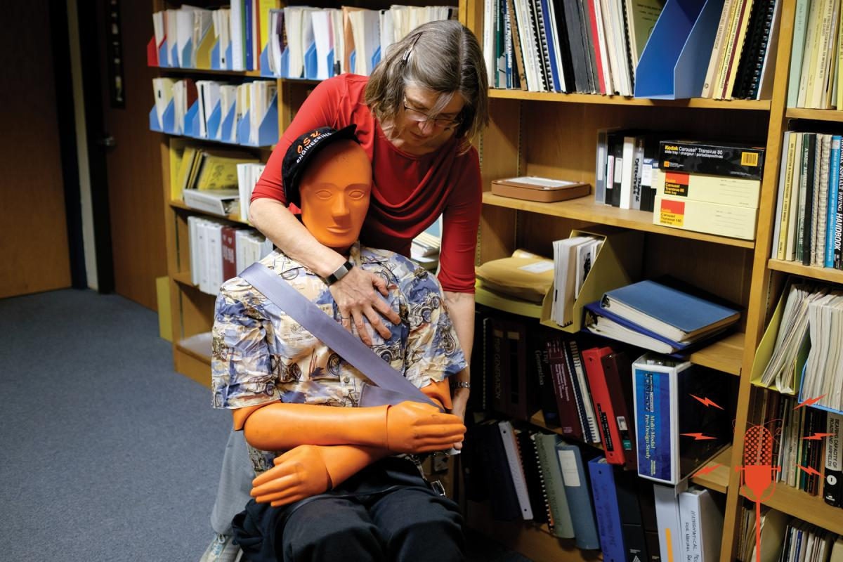 Associate Professor Katharine Hunter-Zaworski works with TED.