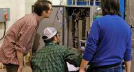 oregon state engineering students in a laboratory
