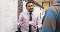 Vishvas Chalishazar presenting research